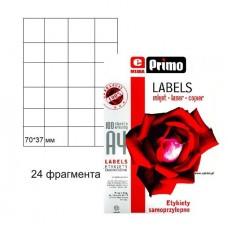 Самоклеящаяся бумага  ePrimo А4, 24 фрагмента, 70*37 мм