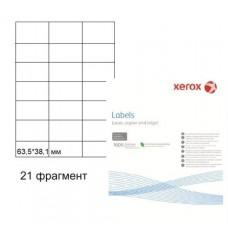 Бумага самоклеящаяся Xerox А4, 21 фрагмент, 63,5*38,1 мм