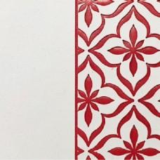 Переплётный материал ALPHA 3 BUTTERFLY 9A05 белый на темно-красной основе 280 г/м2