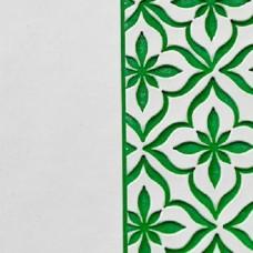 Переплётный материал ALPHA 3 BUTTERFLY 9A18 белый на зеленой основе 280 г/м2