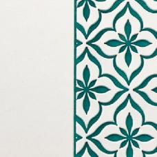 Переплётный материал ALPHA 3 BUTTERFLY 9A24 белый на бирюзовой основе 280 г/м2