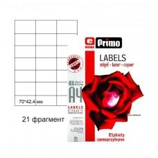 Самоклеящаяся бумага ePrimo А4, 21 фрагмент, 70×42,4 мм