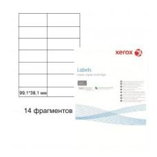Бумага самоклеящаяся Xerox А4, 14 фрагментов, 99,1*38,1 мм
