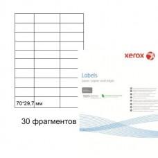 Бумага самоклеящаяся Xerox А4, 30 фрагментов, 70*29,7 мм