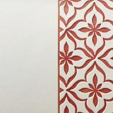 Переплётный материал ALPHA 3 BUTTERFLY 9A08 белый на светло-красной основе 280 г/м2