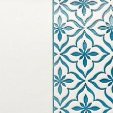 Переплётный материал ALPHA 3 BUTTERFLY 9A34 белый на синей основе 280 г/м2